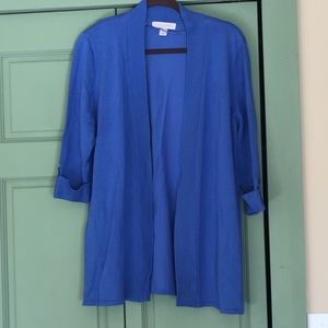 Laura Ashley open cardigan sweater, size XL